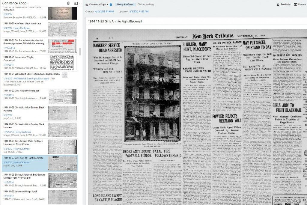 Newspaper Article clipped into Evernote
