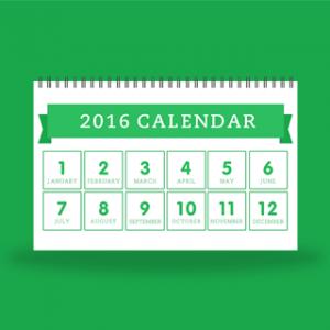 2016 Evernote Calendar