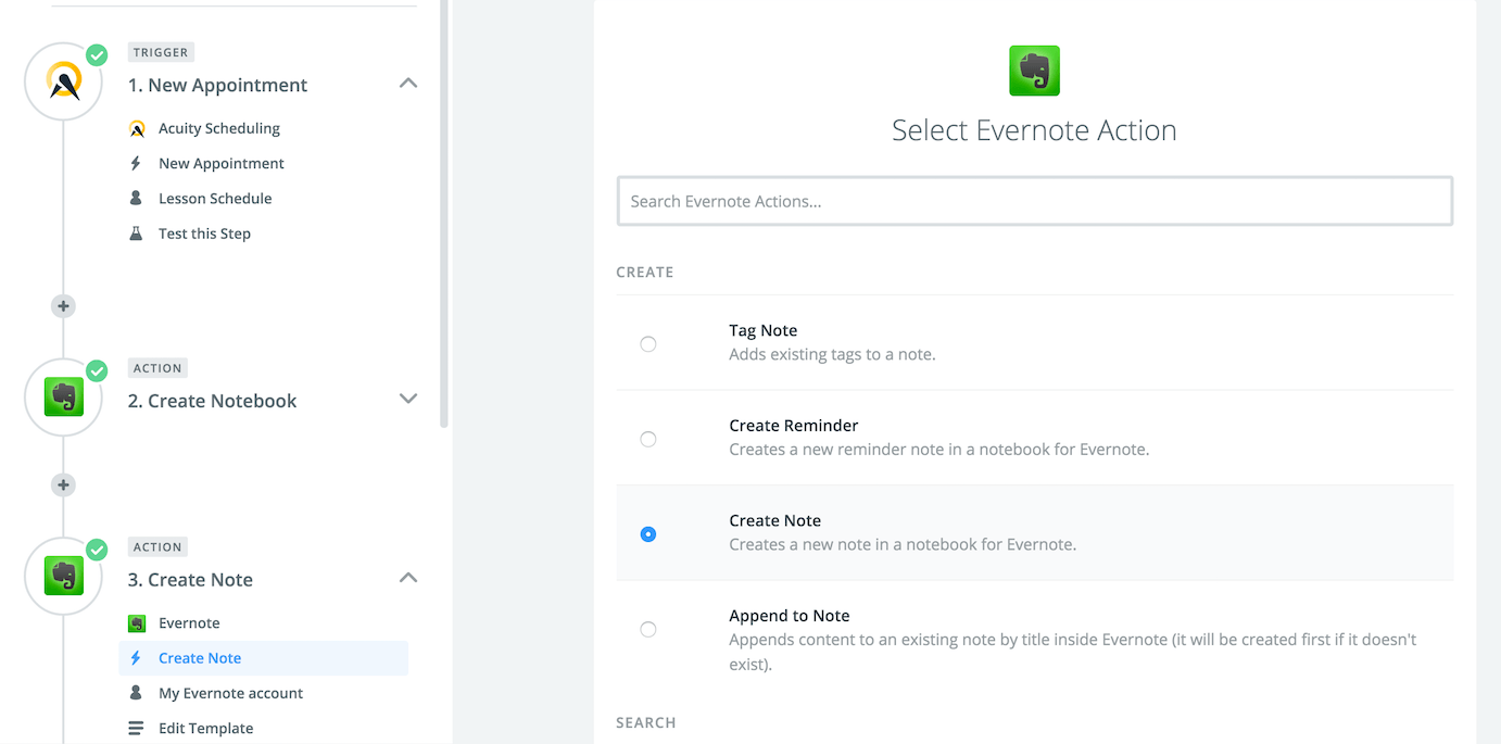 Zapier-Acuity-Evernote