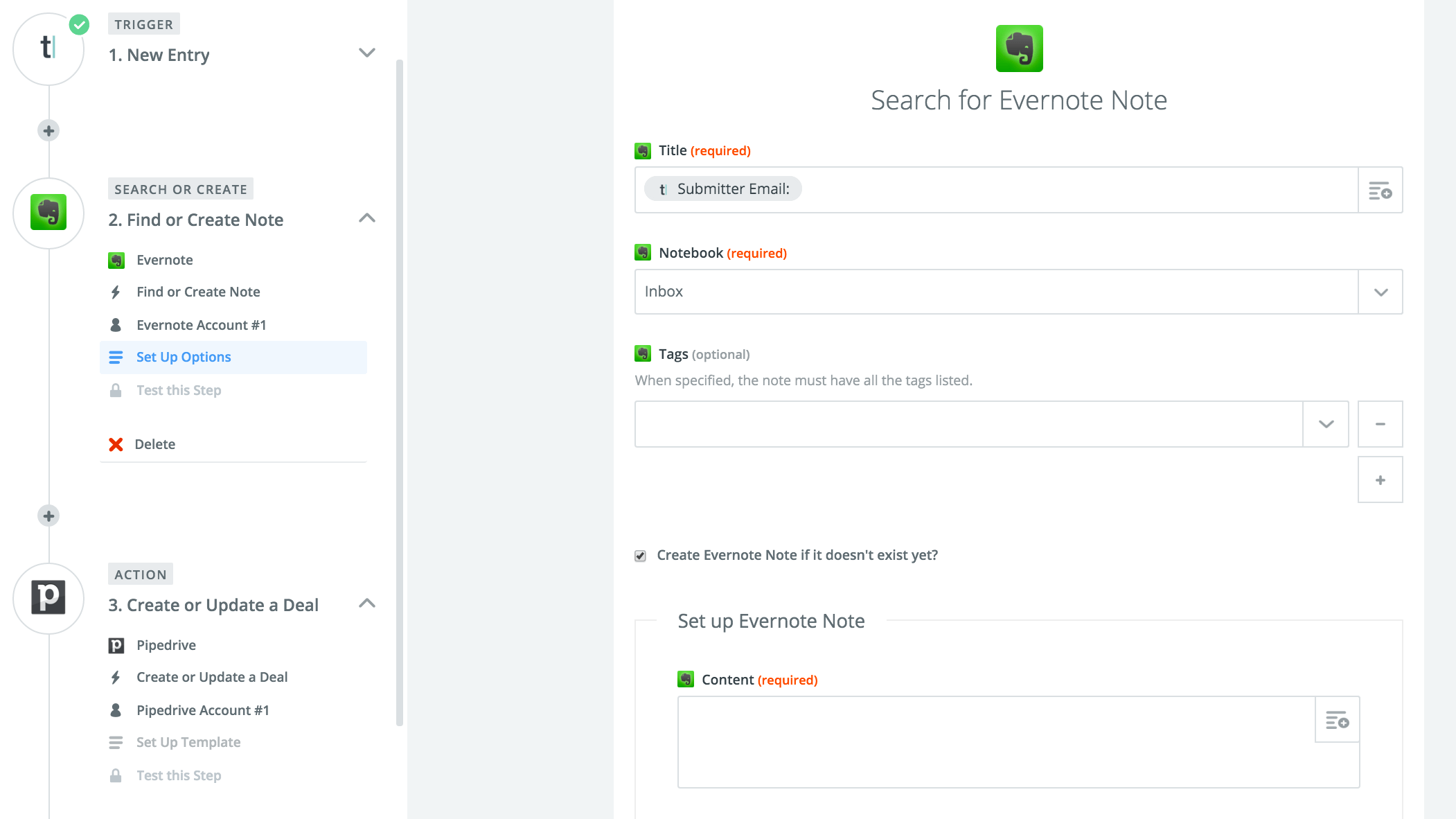 Zapier-Typeform-Evernote-Pipedrive