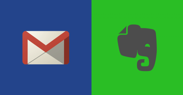 Gmail and Evernote Logos