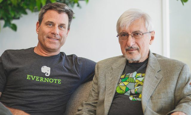 Evernote Founder Stepan Pachikov and CEO Chris O'Neill