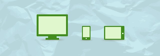 Ilustração de um computador, um ceular e um tablet sobre um papel.
