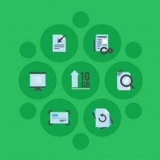 Ilustração com icones do Evernote Premium