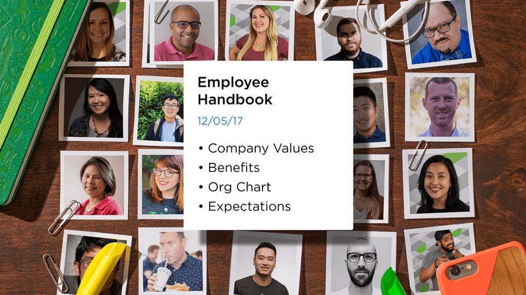 Employee Handbook Note