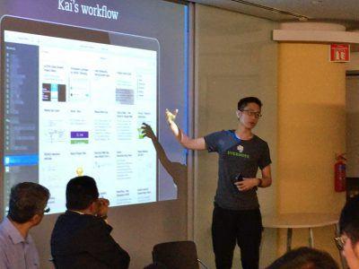 Chi-Kai Huang Presenting in Singapore