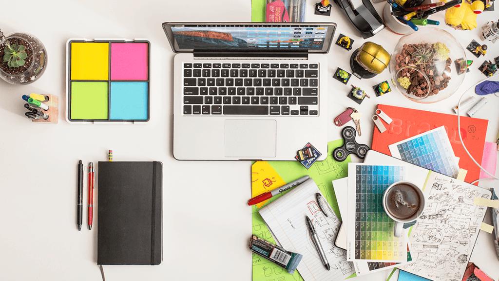 Messy Creative Desk