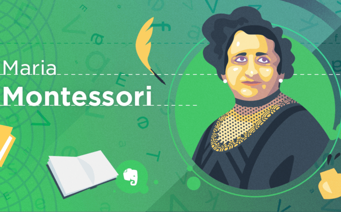 Maria Montessori Illustration
