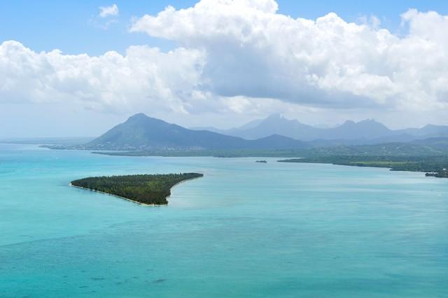 Küste von der Insel Mauritius