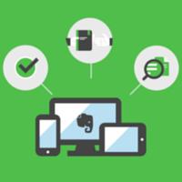 Ilustração de um computador, um celular e um tablet com três ícones