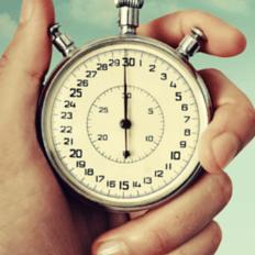 Foto de um cronômetro antigo