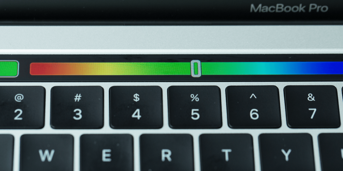 Apple Touch Bar selector de colores