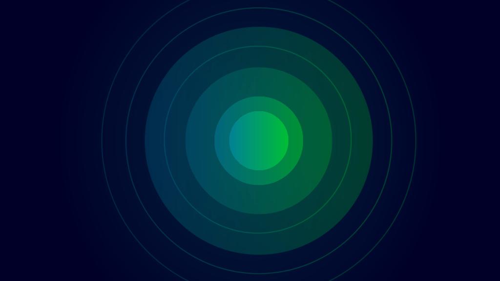 Green and Blue Circles Illustrating Focus