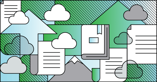Ilustração sobre conceito de cloud computing