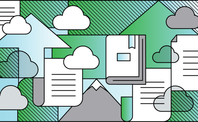 Evernote Cloud Illustration