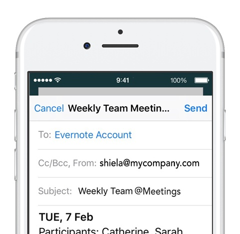 E-Mails in Evernote speichern