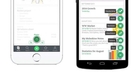 notes rapides iOS et Android