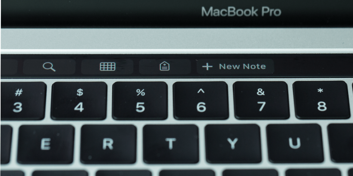 Touch Bar New crear nota nueva
