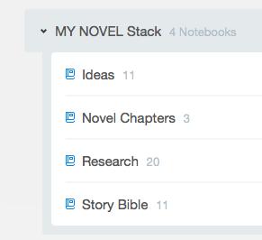 Notebook Stacks for Novel Project