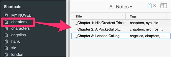 Chapter Tags for Novel