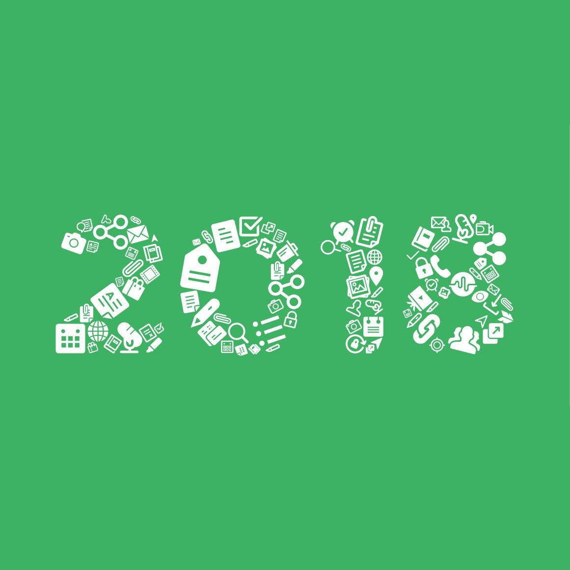 2018年をツールアイコンで作成した図