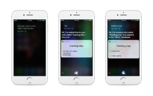 Siri y Evernote en iPhone