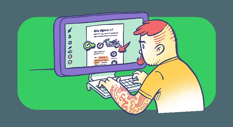 Man Using Evernote for Desktop