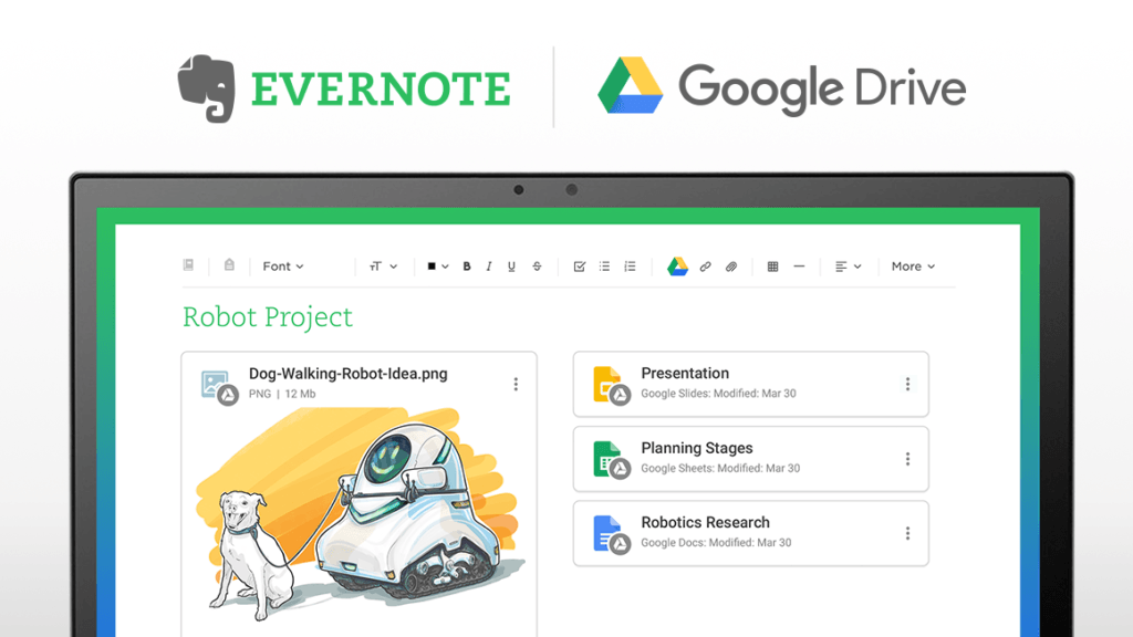 Evernote and Google Drive Integration