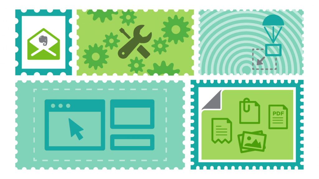 Several Notes with different Content Illustration