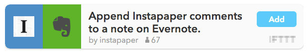 Instapaper Comments y Evernote