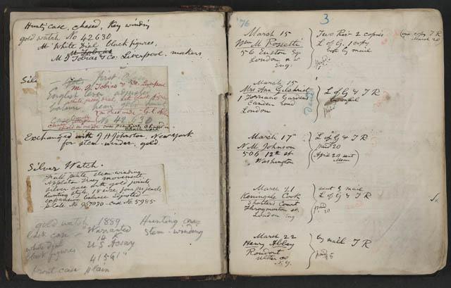 Walt Whitman cuaderno de apuntes