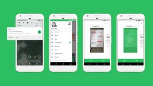 Four screenshots of Evernote on an Android phone.