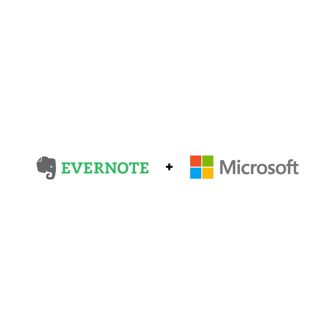 Evernote and Microsoft logos side by side
