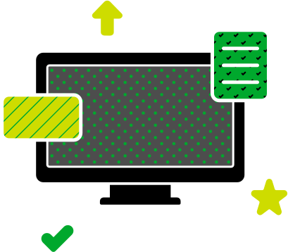 Graphic illustration of multiple windows, depicting Evernote accessibility from multiple devices