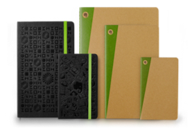 Moleskin notebooks of different size and colour