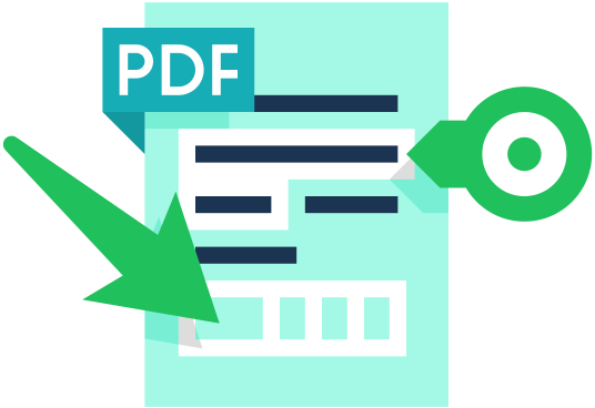 PDF document icon with arrows