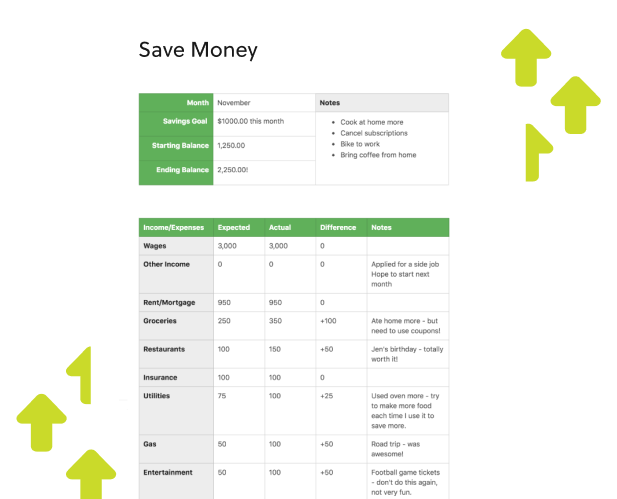 Budget Monthly Template from evernote.com