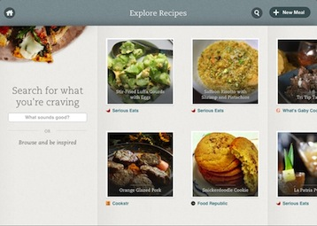Explore Recipes - iPad