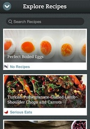Explore Recipes - iPhone
