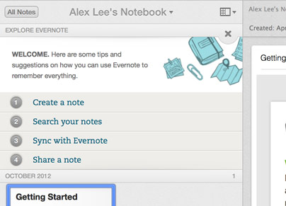 Explorez Evernote