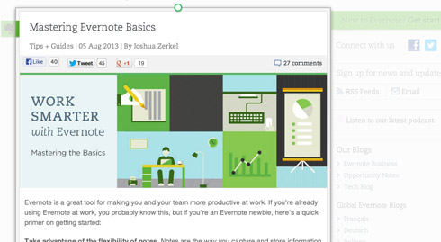 Evernote Web Clipper 7.13.8 full
